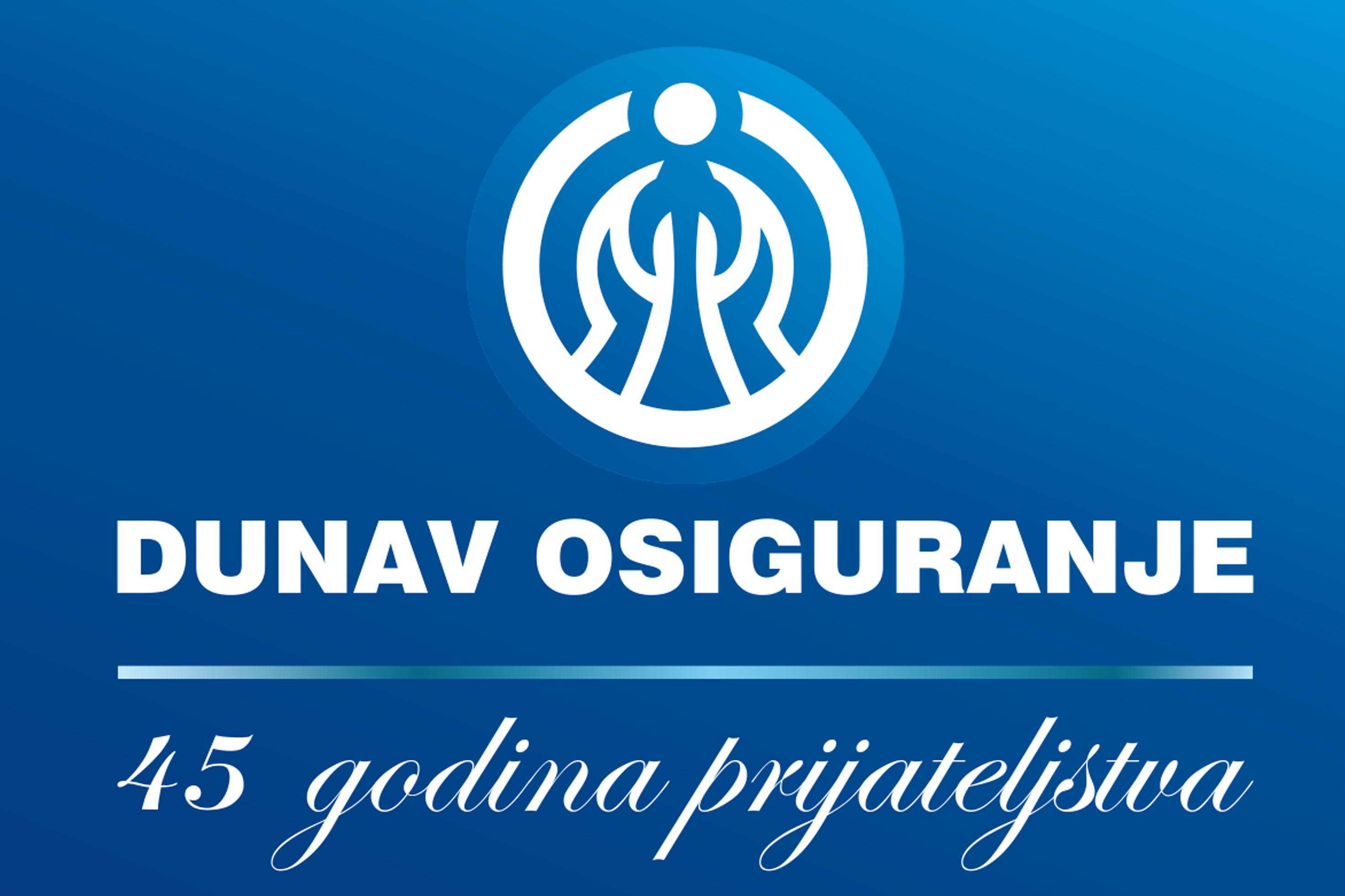 Dunav osiguranje-znak i logotip-45 godina-latinica