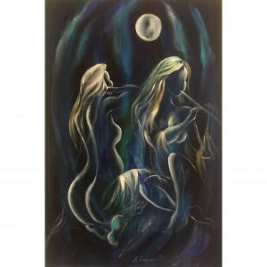 Pesma Mesečevog Povetarca, ulje na platnu 120x80